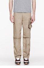 WHITE MOUNTAINEERING Khaki Twill Porter Cargo pants for men