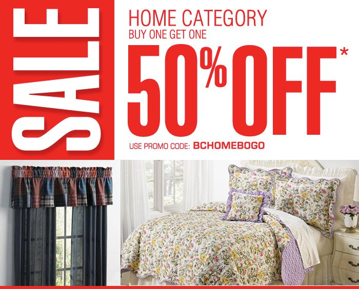 Home Category - Buy One Get One 50 off