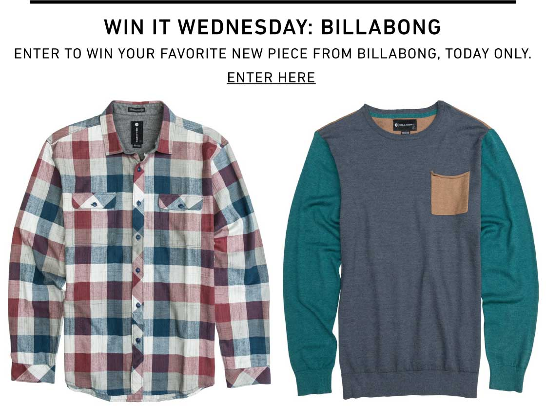 Win It Wednesday: Billabong