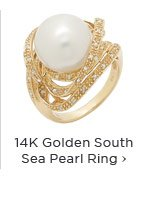 14k golden south sea pearl ring