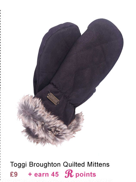 Toggi Broughton Quilted Mittens £9 (Earn 45 Rider Reward points worth 45p)