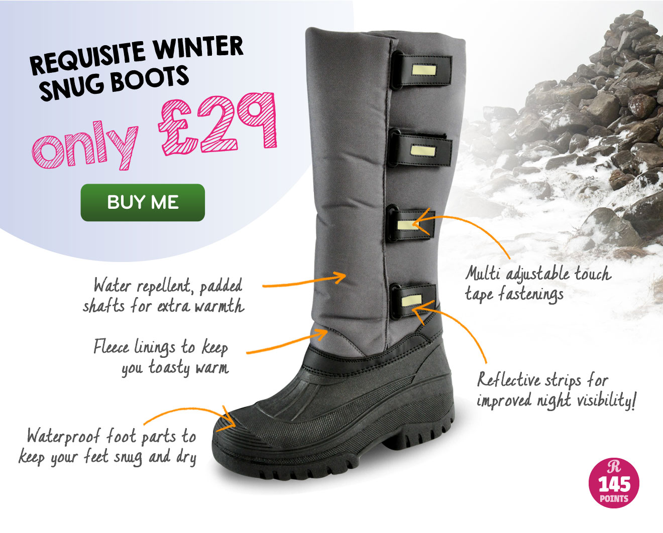 Requisite Winter Snug Boots only £29 (Earn 145 Rider Reward points worth £1.45)