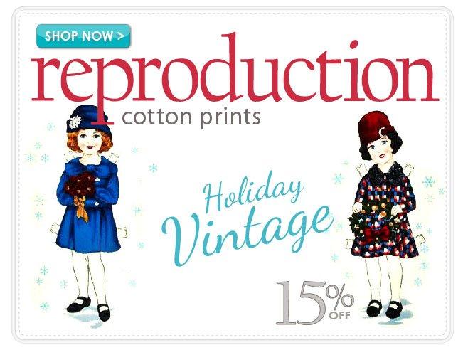 15% off Reproduction Cotton Prints