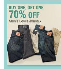 BUY 1 GET 1 70% OFF Men's Levi's Jeans.
