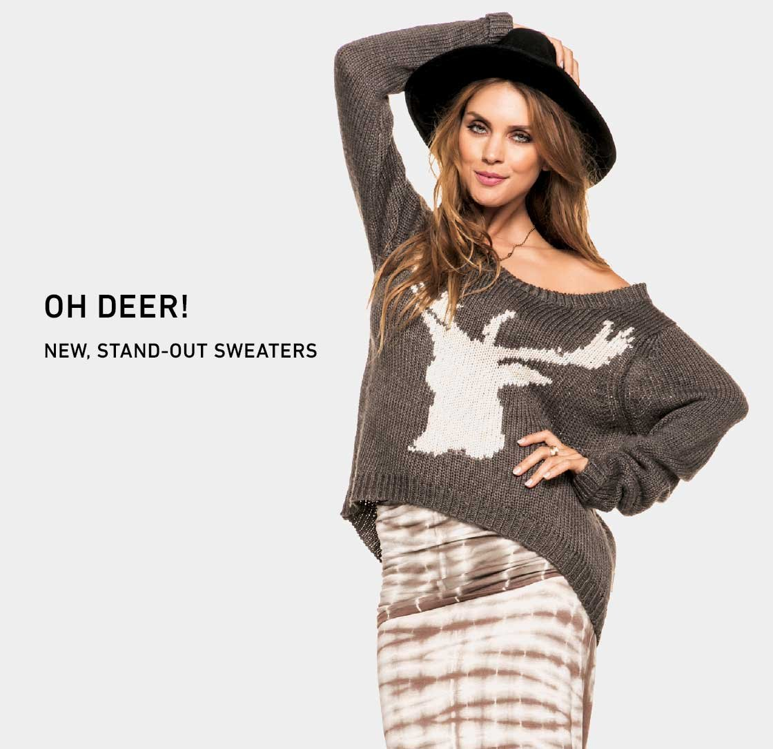 Oh Deer! New Sweaters.