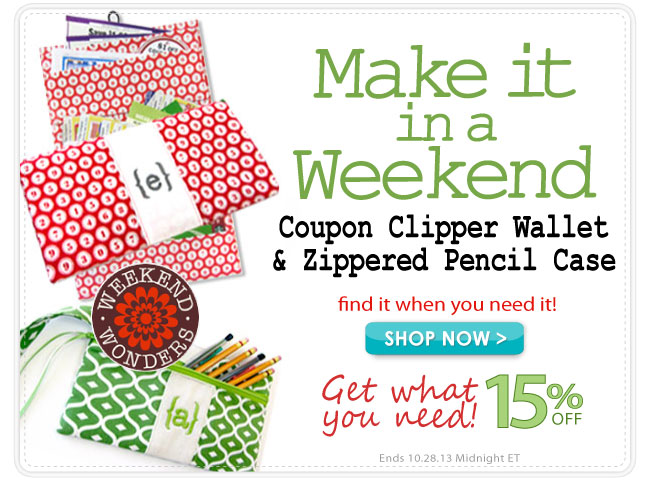 Save 15% and Make this Coupon Wallet or Pencil Case