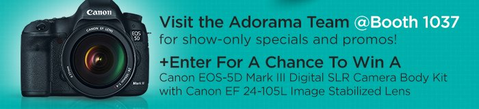 Visit the Adorama Team @Booth 1037