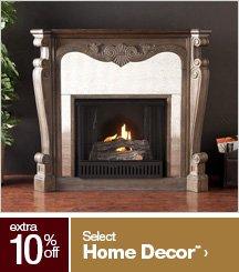 Extra 10% off Select Home Decor**