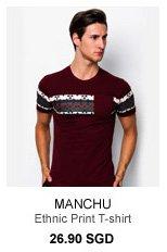 Manchu Ethnic Print T-Shirt