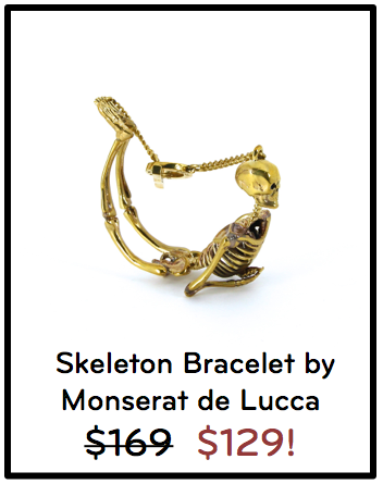Skeleton Bracelet by Monserat de Lucca