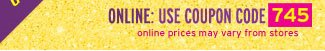 use coupon code 745