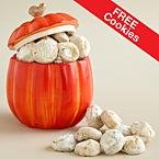 Pumpkin Cookie Jar with FREE Pecan Meltway Cookies