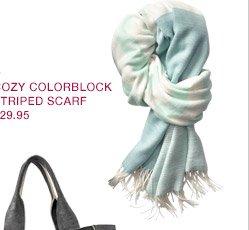 COZY COLORBLOCK STRIPED SCARF $29.95