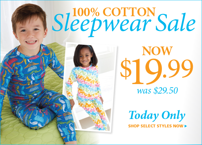 $19.99 Sleep Wear Sale on Select styles, Today Only