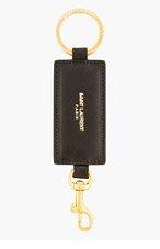 SAINT LAURENT Black Leather Keychain for women