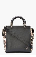 GIVENCHY Black Floral House Logo Tote for women