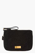 MARC BY MARC JACOBS Black Leather Washed up Clutch for women