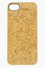 MARC BY MARC JACOBS Gold Crinkled Foil iPhone 5 Case for women