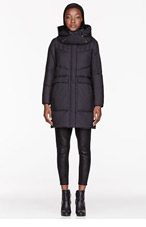 HELMUT HELMUT LANG Black Hooded Quilted down Parka for women