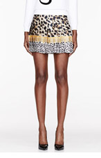 VERSUS Tan & gold Animal Print Skirt for women