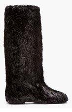 MARNI Black Nutria Fur Boots for women