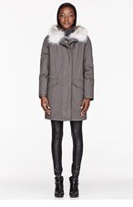 ARMY BY YVES SALOMON Olive Drab Fur-lined layered Classic Parka for women