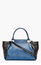 LANVIN Black & Blue Leather Trilogy Bag for women