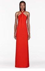 MAISON MARTIN MARGIELA Red Tie halter Dress for women