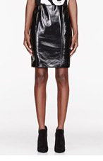 JONATHAN SAUNDERS Black Vinyl Elina Pencil Skirt for women