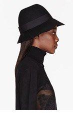 STELLA MCCARTNEY Black Wool Round Hat for women