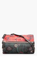 GIVENCHY Black Multicolor Patchwork Print Leather Mini Pandora Bag for women