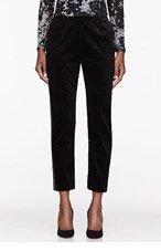 JONATHAN SAUNDERS Black Velvet Ornella Trousers for women