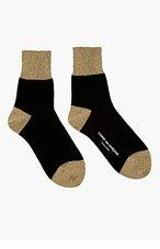 COMME DES GARÇONS Gold Lurex Socks for women