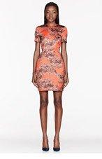 JONATHAN SAUNDERS Orange & grey Printed Helen Dress for women