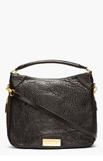 MARC BY MARC JACOBS Black Washed Leather Zip Billy Hobo Bag for women