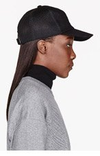 SILENT BY DAMIR DOMA Black Quilted Trucker Cap for women