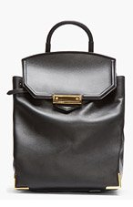 ALEXANDER WANG Black Leather Prisma Backpack for women