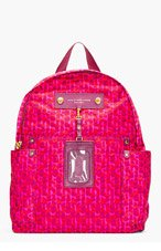 MARC BY MARC JACOBS Fuchsia Leopard Print Nylon Preppy Isa Backpack for women