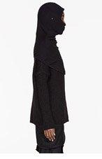 THAMANYAH Black Merino Burqa hood for women