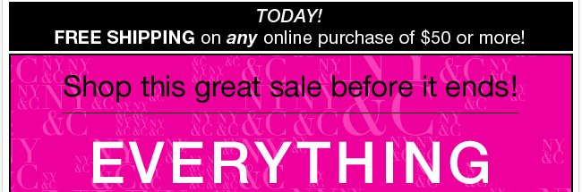 Everything 40%, 50%, 60% Off! Shop Now!