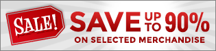 Save Up to 90% on Sale Merchandise