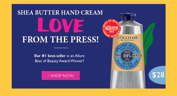 Shea Butter Hand Cream Allure Best of Beauty Award Winner
