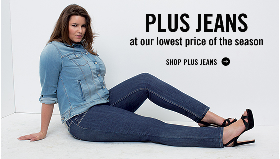 Plus jeans at our lowest price of the season. Shop plus jeans