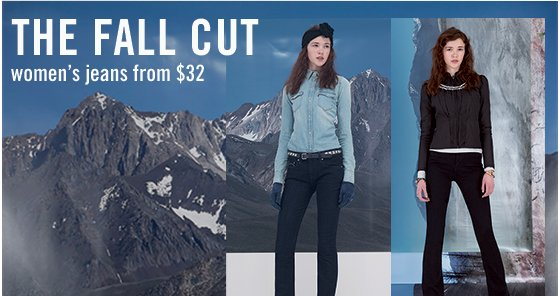 The fall cut women's jeans from $32