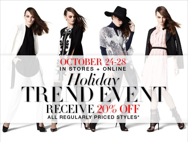 HOLIDAY TREND EVENT