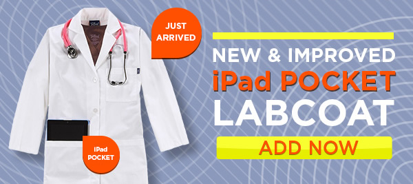 New and improved Tafford iPad pocket labcoat - Add Now