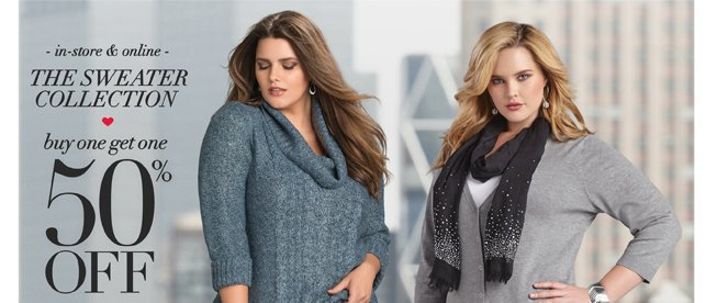 The Sweater Collection: BOGO 50% Off*