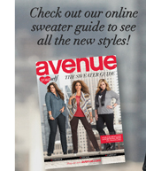 Check out our online sweater guide to see all the new styles!
