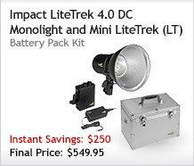 Impact LiteTrek 4.0 DC Monolight and Mini LiteTrek