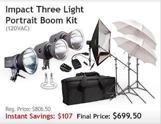 Impact Three Light Portrait Boom Kit